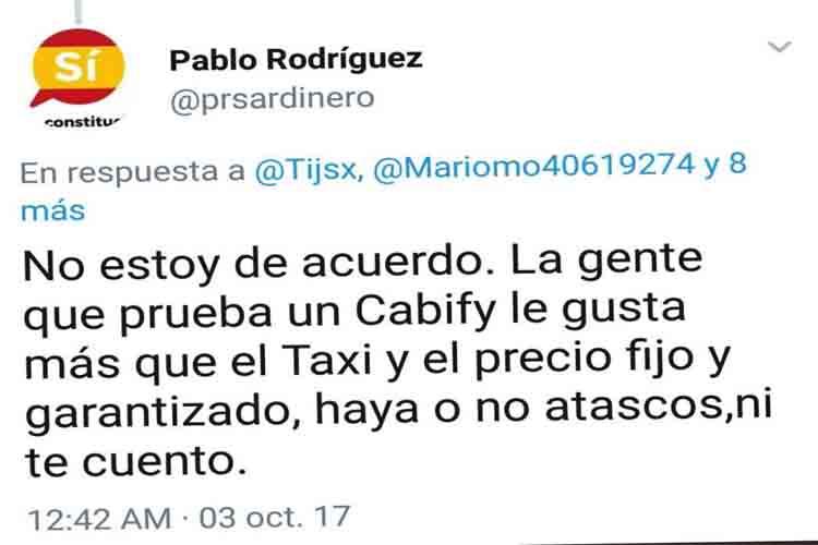 La voluntad política del taxi