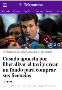 Casado apuesta por liberalizar el taxi