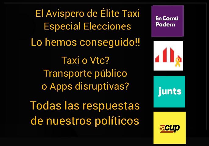 El Avispero de Elite Taxi - Especial Elecciones (ERC, Junts x Cat, CUP, En Comú Podem)