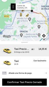 Siguen las estafas de Uber en Barcelona al no disponer de taxis en su aplicación